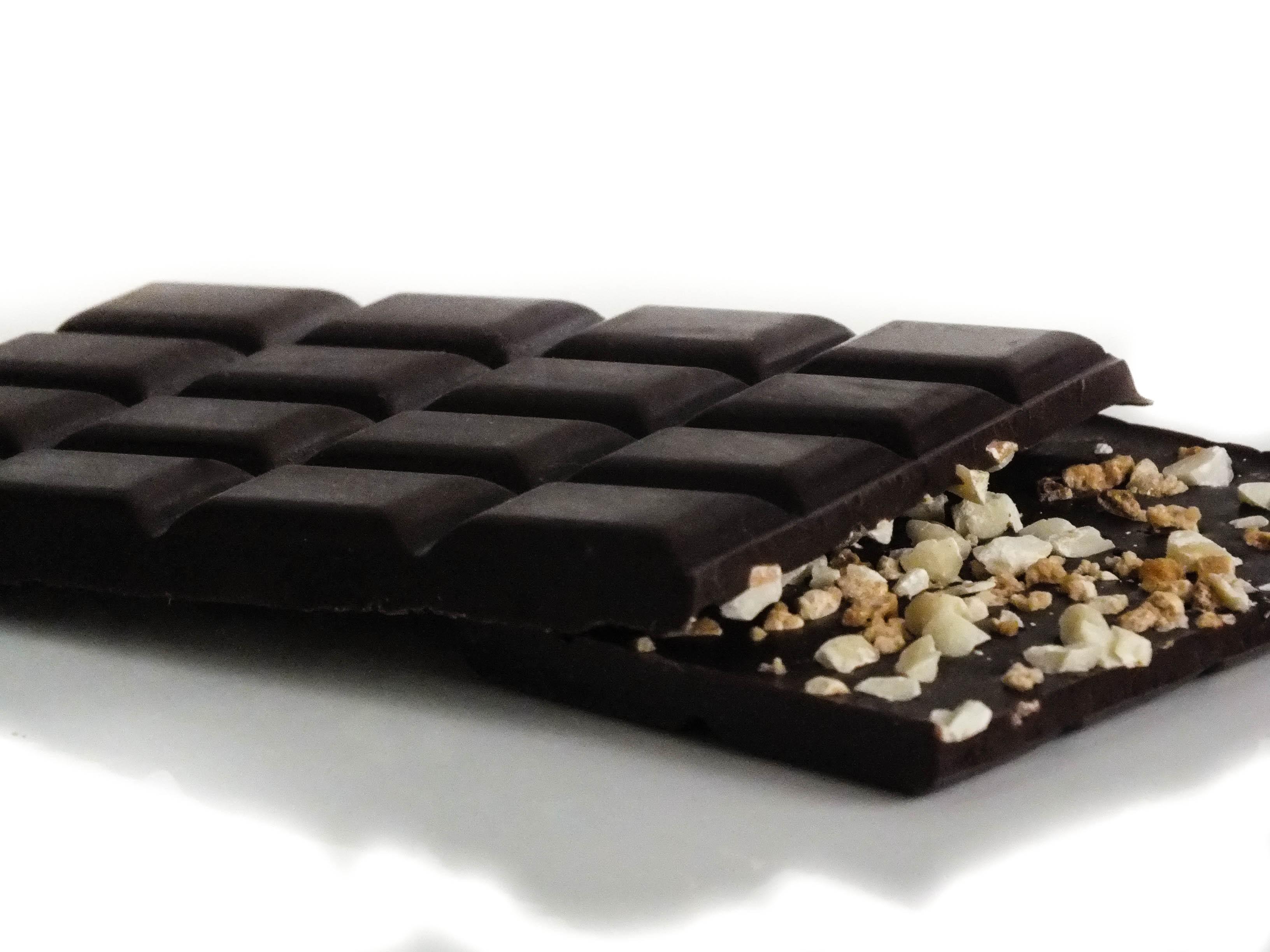 Hazelnut and Almond Dark Chocolate Bar