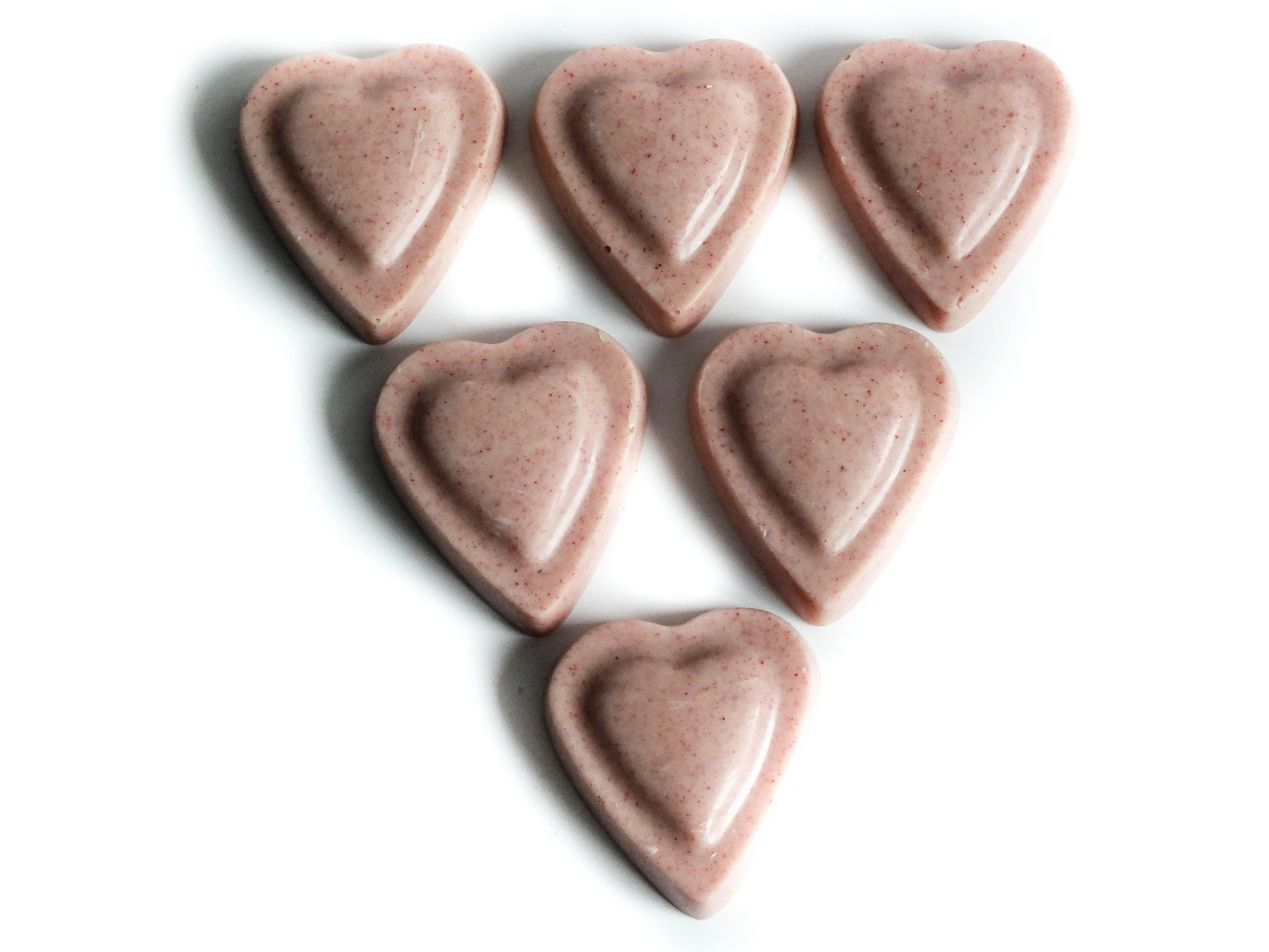 White Chocolate Strawberry Hearts