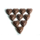 Fair-trade & Organic Milk Chocolate Hearts with Rose